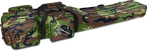 normani Angeltasche Rutentasche mit 3 Rutenkammern für 6 Ruten 1,25 m RodBox Triple Farbe Camouflage