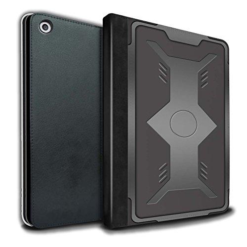 Stuff4® PU-Leder Hülle/Case/Brieftasche für Apple iPad 9.7 (2017) Tablet/Schild Muster/Rüstung Kollektion