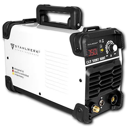 STAHLWERK CUT 50 ST IGBT Plasmaschneider mit 50 Ampere, bis 14mm Schneidleistung, für Lackierte...