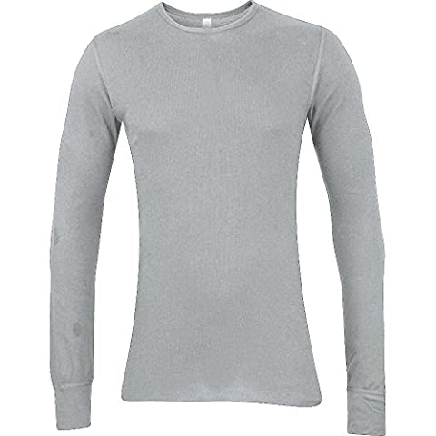 American Apparel Mens Baby Thermal Polycotton Long Sleeve T-Shirt