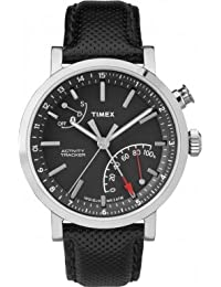 Timex Metropolitan + Bluetooth Black, Brushed Steel, Grey Sport Watch–Sport Uhr (Black, Brushed Steel, Grey, Stainless Steel, Water Resistant, Leather, Mineral, Glass)