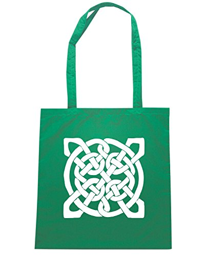 T-Shirtshock - Borsa Shopping FUN0369 611 celtic knots decal 1 76413 Verde