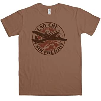 Mens Inspired By Lao Che Air Freight T Shirt - Chestnut - Small