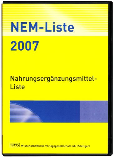 NEM-Liste 2007, 1 CD-ROM Nahrungsergänzungsmittel-Liste