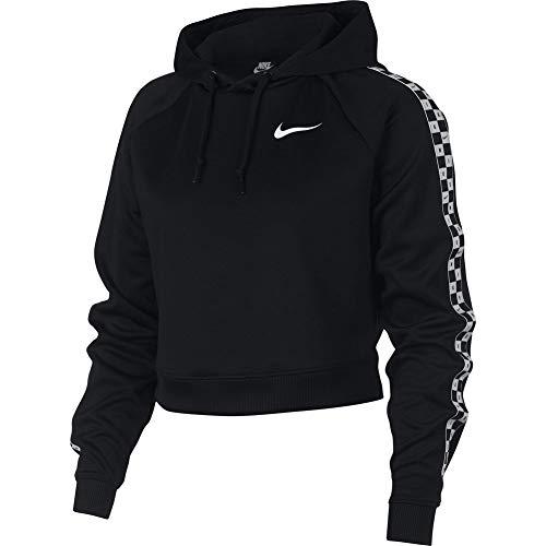 Nike Sportswear HYP FM Crop Sudadera Capucha Mujer Negro XS (X-Small)