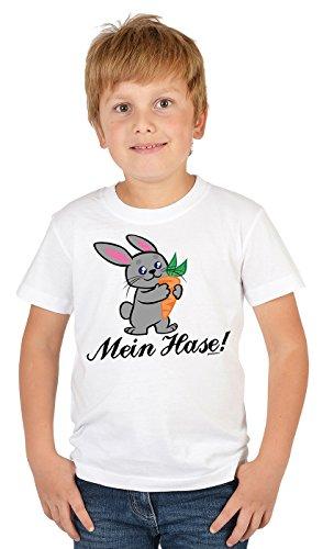 Kinder T-Shirt mit Lustigem Oster Motiv - Osterhasen Kinder-Shirt : Mein Hase - Witziges Tshirt Fürs Osternest Jungen/Mädchen Gr: XL= 158-164