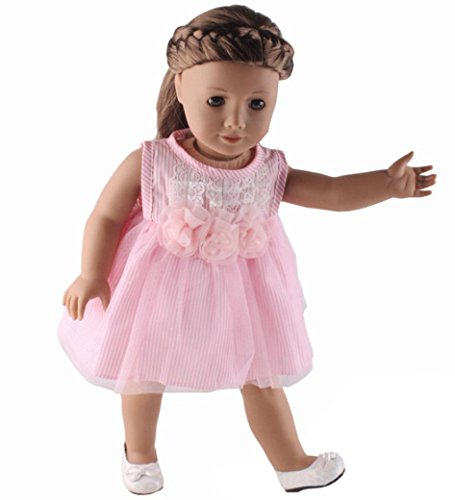 Omiky® Puppe Kleid für 18 Zoll unsere Generation American Girl & Boy Doll (18-zoll-puppe-handy)