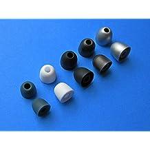 Soft Gel Reemplazo Set Olivas Almohadillas Orejas Tapones de Repuesto para JVC HA-FX3X Xtreme Xplosives, HA-FXC80 Black Series, HA-FR201A XX Series , HA-FX101A, HA-FX40A, HA-FR6-V, HA-FX5-A, y HA-FX8-A Riptidz Auriculares In-Ear Intrauriculares