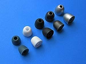 Soft Gel Remplacement Embouts d'oreille pour Sony Ericsson HPM-70, HPM-75, HPM-77,HPM-82, HPM-90, HBH-DS220, HBH-DS970, HBH-DS980 et MW600 Ecouteurs intra auriculaires / Casques