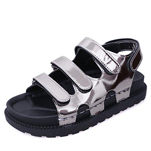 Fin de chaussures plates d'été fashion Lady/étudiant Velcro open toe sandales casual/Chaussures de gladiateur B