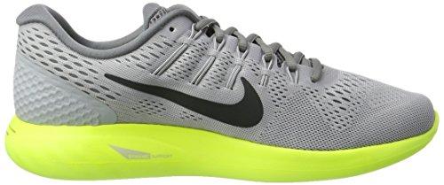 Nike Lunarglide 8, Scarpe Running Uomo Grigio (Wolf Grey/Anthracite/Volt/Cool)