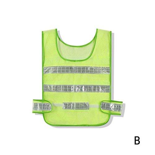 4 Stücke Sicherheit Reflektierende Lichter Westen Verkehr Warnung Kleidung für Baustelle Sanitation Arbeiter Sicherheit Sichtbarkeit Kleidung rot Gelb weiss (Light Blue-stripe-team)