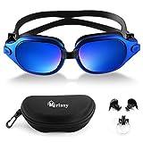 Merisny Swimming Goggles for Adult, Anti-fog Swim Goggles No Leaking Professional UV Protection