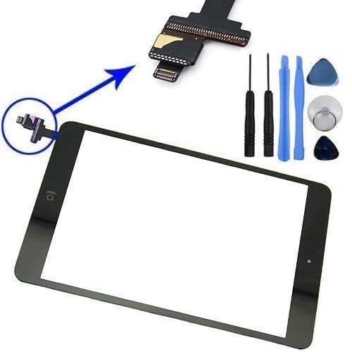 Écran Tactile Remplacement Numériseur Vitre pour iPad Mini 1 2 + Adhesif + La Puce IC + Bouton...
