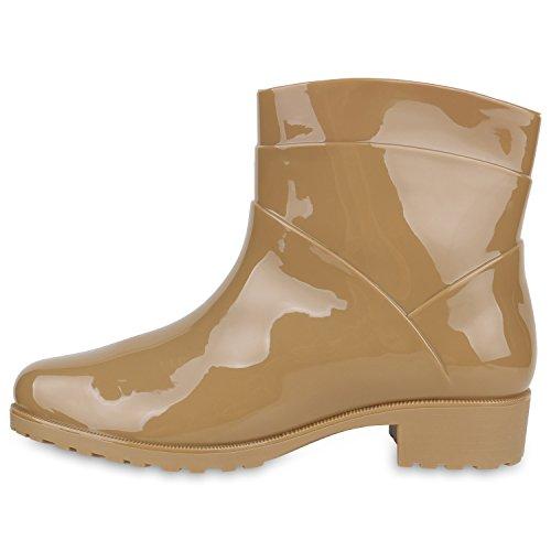 Damen Gummistiefel Profil Sohle Stiefel Regen Schuhe Wasserdicht Khaki
