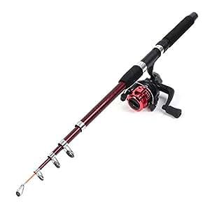 Mousse 5 Sections Grip Thkfish Canne à pêche avec moulinet à poisson