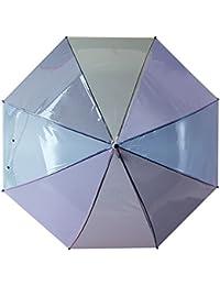 Yiyue El Clásico Paraguas Paraguas Translúcido Chica Soleada Lluvia Dos Adorables Chicas con Largo Mango Recto