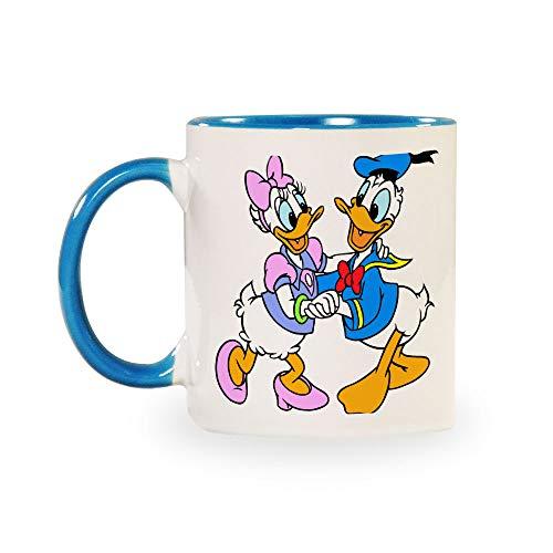 TANGGOOD Donald Duck Paar Lustiger Kaffee Milch Tee Keramiktassen Morgen Tasse Getränke und Hochzeiten, Geburtstage, Vatertag ohne Löffel und Teller