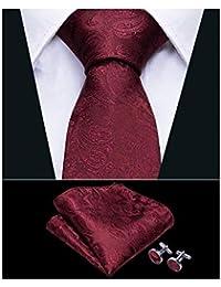c7070ee963dc Wang Men Tie Solid Silk Tie Pocket Square Cufflinks Set Wedding Plain Tie  Business