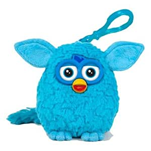 Furby 8cm on keychain (total 19cm approx) with sound - Blue