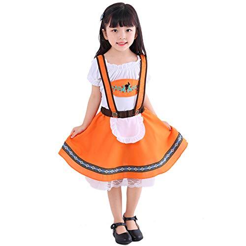 Lhlxs Kinder Oktober Kostüme Deutsches Bier-Mädchen-Junge-Kostüm Cosplay Kleid Halloween Karnevals-Party Kleidung für (Deutsch Bier Mädchen Kostüm)