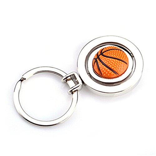 szhaiyu Creative 3D Sports drehbar Ball Schlüsselanhänger GOLF Fußball Basketball Herren Schlüsselanhänger Geschenk Basketball - Neuheit Fußball-bälle