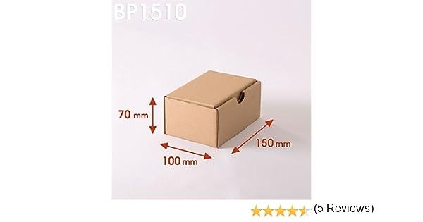 Lot de 1000 Bo/îtes postales brunes 200x140x75 mm