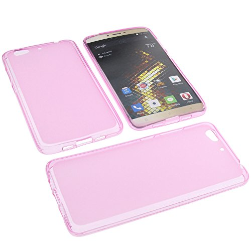 foto-kontor Tasche für Blu Vivo 5 Gummi TPU Schutz Handytasche pink