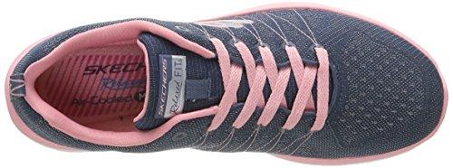 Skechers (SKEES) 12224 - Scarpe da Ginnastica Basse Donna Blu (NVPK)