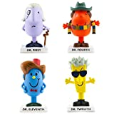 BBC Mr Men None Doctor WHO MR Men Figurines (Set of 4) First Fourth Eleventh/DR Twelfth