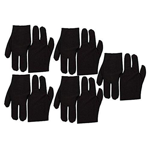 TaoNaisi Samt 3Finger Handschuhe für Billard Queue Pool 10Stück