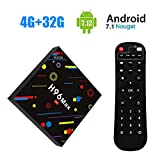 [2018 TV Box 4 GB + 32 GB] sinuk h96 Max H2 Android 7.1 Smart TV Box 4 G + 32G rk3328 Quad Core 64bit Cortex-A53 set-Top Box, Ultra HD Support 2.4 G/5 G Dual WIFI 100M/Bluetooth 3d/4 K/USB 3.0