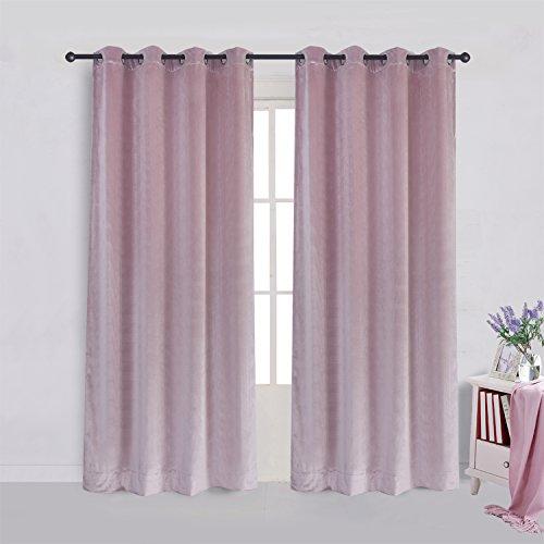 NEW flannelvelvet Tenda finestra tendaggi tende, Pink, 66