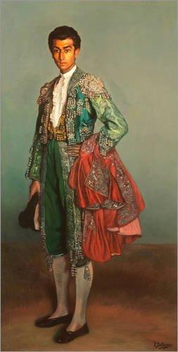 Posterlounge Holzbild 40 x 80 cm: Torero Rafael Albaicin von Ignacio Zuloaga Zabaleta/akg-Images (Torero Kostüm Männer)