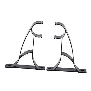 gazechimp 2pcs metall vorhang gardinen halterung halter f r 25mm gardinenstangen. Black Bedroom Furniture Sets. Home Design Ideas