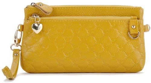 Mefly Moda In Pelle Borsa A Mano Croce Obliqua Bag Nuovo Signore Di Colore Giallo Brillante Bright yellow
