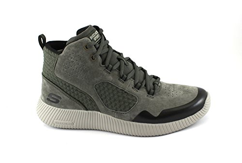 SKECHERS 52397 DRANGO verde olive grigio scarpe uomo sneaker memory foam Grigio