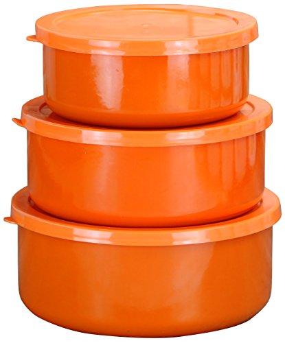 Calypso Basics by Reston Lloyd Schüssel aus Stahl, Orange, 6-teilig