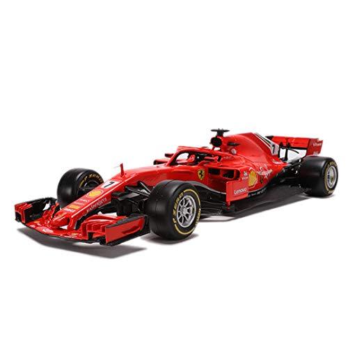 GFLD Miniatur Motorfahrzeug-Modelle Ferrari F1 Formula Racing Modell SF71-H 1:18 Simulation Alloy Racing Modell