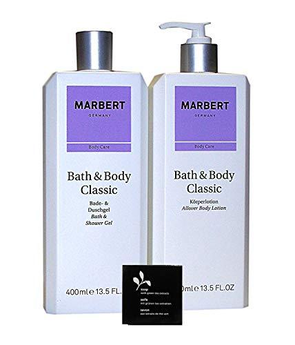 Marbert CLASSIC 2 tlg. Pflegeset: Bade & Duschgel 400 ml unboxed + Körperlotion 400 ml unboxed