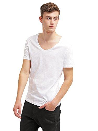 T-Shirt Herren Schwarz o. Weiß mit V-Ausschnitt o. Rundhals ★ The Style Room ★ Herren TShirt kurzarm Top Shirt mit V-Neck /O-Neck