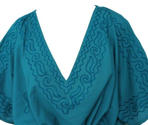 La Leela -  Camicia da notte  - Kimono - Opaco - Donna Emarald Grün