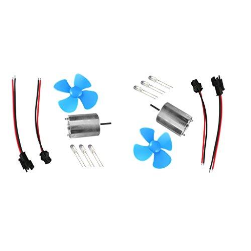 2x Piccolo LED Generatore Eolico Turbina Modello Di Energia Eolica Self Powered LED Light