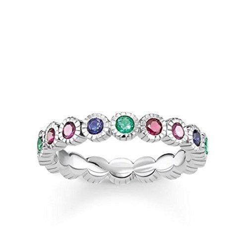 Thomas Sabo Damen-Ringe 925 Sterling Silber Künstliche Perle \'- Ringgröße 54 (17.2) TR2145-322-7-54