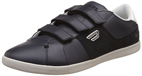 Diesel Men's Eastcop Gotcha Strap - Sneake Black and White Leather sneakers - 7.5 UK/India (41 EU)  available at amazon for Rs.6599