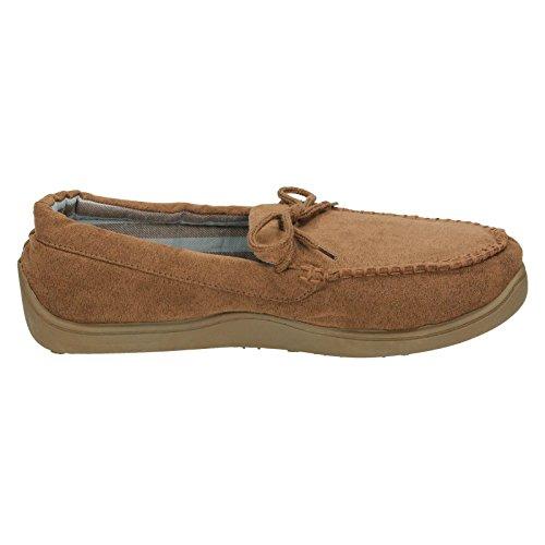 Pour Spot On Mocassin Pantoufles Style 577454 Marron