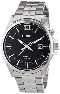 Reloj Seiko Kinetic SKA573P1 de cuarzo para hombre, correa de acero inoxidable color plateado de Seiko