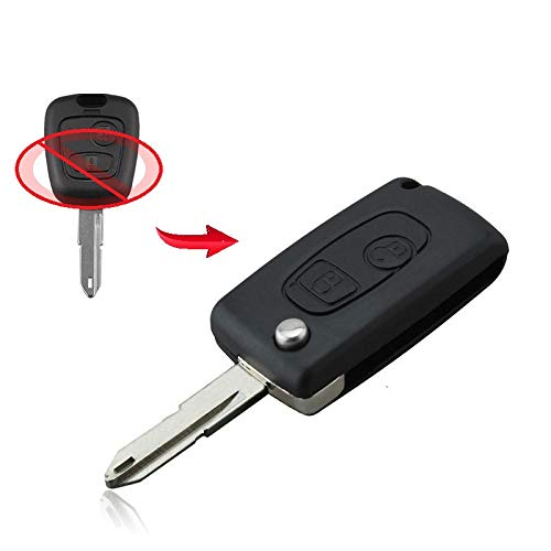UMBAU KIT Umrüstung Schlüssel Klappschlüssel mit 2 Tasten Rohling NE73 Chiavi Fernbedienung Funkschlüssel Gehäuse Autoschlüssel