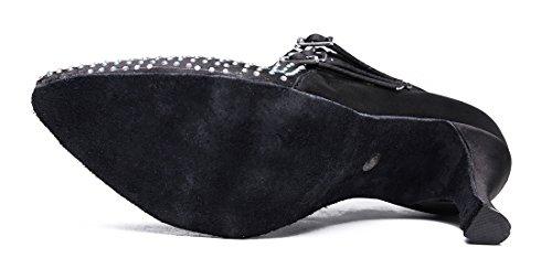 TDA ,  Damen Durchgängies Plateau Sandalen mit Keilabsatz 7.5cm Black