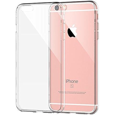 iPhone 6s Plus Funda, JETech Apple iPhone 6/6s Plus 5.5 Funda Carcasa Case Bumper Tope Shock- Absorción y Anti-Arañazos Borrar Espalda para iPhone 6 6s Plus (Clara) - 0702